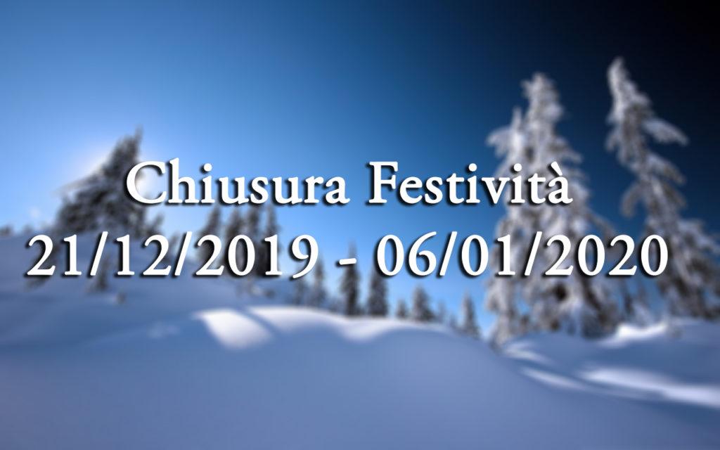 FESTIVITA' 2019-2020
